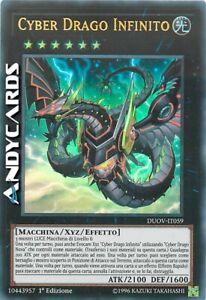 CYBER DRAGO INFINITO (Cyber Dragon Infinity) Ultra R • DUOV IT059 • 1Ed • Yugioh
