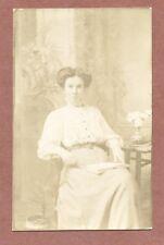 Young Lady studio portrait, Merrett Bros., Stroud Gloucestershire c 1910   RK35
