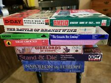 Large Vintage War Board Games collection AH, PWG, GDW, Eagle, Conquest Etc.