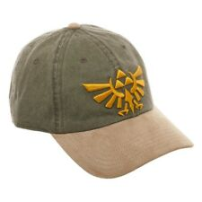 NINTENDO LEGEND OF ZELDA LOGO DAD HAT STRAPBACK CAP ADJUSTABLE SUEDE CURVED BILL