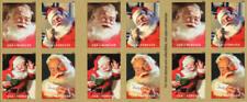 2018 50c Sparkling Holidays, Coca-Cola, Santa, Mint Booklet of 20 Scott 5332-35