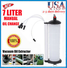 Vacuum Oil Fluid Extractor 7L Manual Fuel Petrol Syphon Pump Transfer Suction US