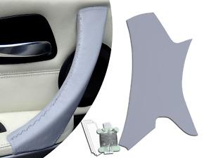Left Passenger Inner Door Handle Leather Cover BMW 3 Series E90 E9x Grey Trim