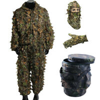 Hunting 3D Leaf Sneaky Camo Face Mask Headwear for Woodland Stealth Ghillie Suit