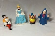 VTG Rare Lot of 4 Cinderella Porcelain Ceramic Figurines w/ Gus Godmother Prince