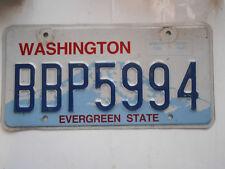 plaque immatriculation  usa washington license plate old americaine 5994