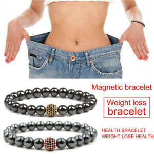 Magnetic Hematite Stone Beads Bracelet Health Care Slimming Bracelet .AU