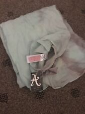 Accessorize gorgeous scarf pale green and Grey New