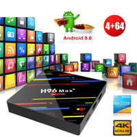 H96MAX+ 4+64G Android 9.0 Quad Core 4K Smart TV BOX DUAL WIFI BT 4.0 USB Network