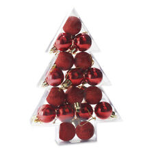 2 Ensembles Noël Boule Décorations 17 Ø 2.8cm Paillette et Brillant en Rouge