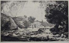 Friedrich RITSCHEL (1901-?) Landschaft ( Landscape)  Radierung/Sign.