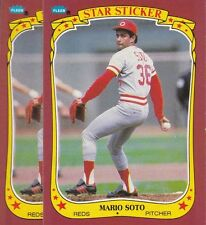 1986 FLEER BASEBALL STICKER LOT (2) MARIO SOTO #114 REDS NMMT/MINT *L1723