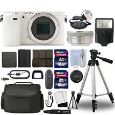 Sony Alpha a6000 Mirrorless Digital Camera with 16-50mm Lens White + 32GB Bundle
