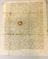 Manuscript Document from 1342 rare early paper with seal