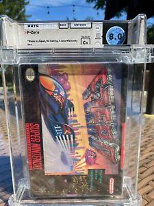 1991 Super Nintendo SNES F-Zero WATA Graded 8.0 Sealed C+ First Print!