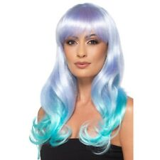 Ombre Wig Long Heat Resistant Styleable Layered Fancy Dress Unicorn Coloured Wig