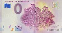 BILLET 0  EURO ALBRECHTSBURG MEISSEN BILLET FAUTE  ALLEMAGNE 2018  NUMERO 400