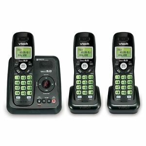 VTECH CS6120-31 Cordless 3 Handset Phone with Answering System ~ Brand New