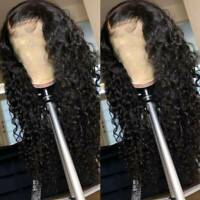 Deep Curly Wave Lace Front Wigs Brazilian Remy Human Hair Silk Top Full Lace Wig