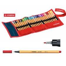 Stabilo Point 88 Fineliners Drawing 25 Colors Pencil Roll Case Art 0.4 Fine Pen