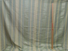 Embossed Striped Fabric Gold Cream Soft Teal Elegant Polyester