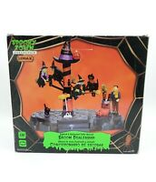 Spooky Town Collection Lemax Broom Dealership Halloween AS-IS Missing Pieces