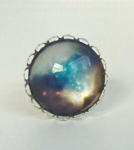 Größenverstellbar  sternennacht schwarzen raum universum galaxy  Ring 2cm Glass