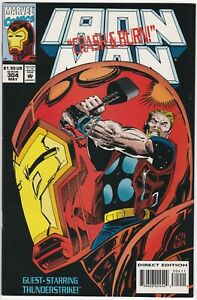 Iron Man #304 NM- 9.2 Thor cover/story, Kraven the Hunter Trading Card intact!