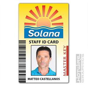 Plastic ID Card (TV Series Prop) - BENIDORM Solana PASS Matteo Castellanos TV