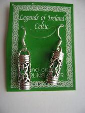 Sterling Silver Celtic Irish Tube Hook Earrings New