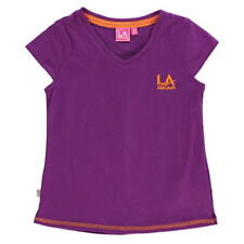 LA Gear V-Neck T-Shirt Junior Purple Age 7-8 Years TD087 CC 15