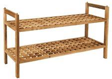 Edles Schuhregal WALNUSS # stapelbar # Schuhschrank Schuh Regal Holz Schuhablage