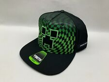 Youth sz MINECRAFT Hat - Fits Most - NWT Black / Green Gamer Gaming Creeper NEW