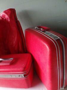 VTG Samsonite Silhouette Luggage Set - 3 pc Red