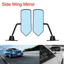 2X Universal For Auto F1 Style Rear View Racing Side Mirrors Convex Glass Retro