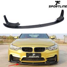 For BMW F80 M3 F82 F83 M4 Front Bumper Lip Spoiler Splitter 14-17 Carbon Fiber