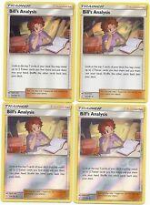 NM-Mint SM Te Holo Rare 133//181 Pokemon: 1x Bill/'s Analysis Reverse Holo