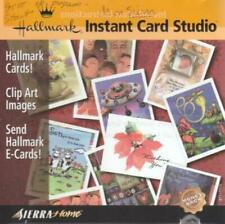 Hallmark Instant Card Studio PC CD create custom greeting cards clip art images
