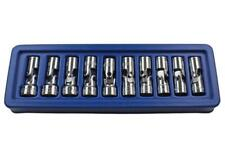 "US PRO 10pc 12 point 3/8"" Flexible Universal Joint Socket Set 10mm to 19mm UJ"