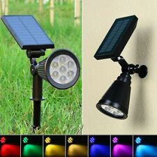 Solar LED Spotlight Garden Yard Spike Lights Outdoor Ground Wall Lamp Waterproof