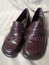 Naturalizer~Brown Croc Embossed Leather~Flats~Loafers~Shoes~Wms 6.5M~EC