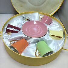 "Classic Coffee & Tea Demitasse Set of 5 Gold Color Trim Design By Yeti ""New"""