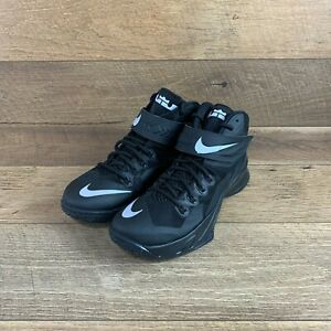 Nike Zoom Soldier VIII (8) LeBron Black/ Metallic Basketball Sneakers Men's 9.5
