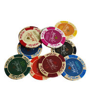14G MONTE CARLO MILLIONS CLAY POKER CHIPS SAMPLE SET