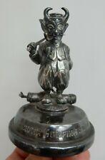 ART DECO Lucifer Golfing Society Wentworth  trophy mascot silver plate GOLF WW1