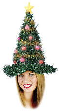Christmas Tinsel Style Adults Tree Hat Light Up Fancy Dress Up Funworld