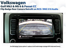 VW GOLF MK5 Mk6 OEM Grade flip badge Reversing Camera Kit for RCD RNS 510
