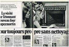 PUBLICITE  1970    ARTHUR MARTIN four éléctroménager ( 2 pages)