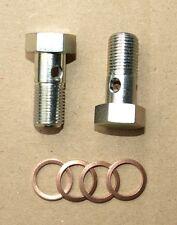 Hohlschrauben M10 x 1 lange Ausführung DIN 7643-3 Kupferdichtringe