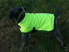 HI VIS WATERPROOF DOG COAT FLEECE LINED NEW 24 IN